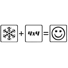 Autocolante - Neve 4x4 Happy
