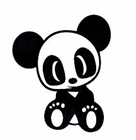 Autocolante - Panda