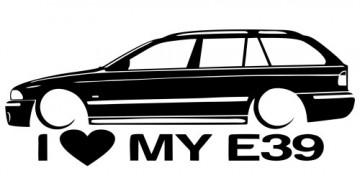 Autocolante para I love BMW E39