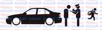 Autocolante - Policia e ladrões - VW