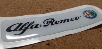 Autocolante Resinado 3D para Alfa Romeo - 110 x 27mm
