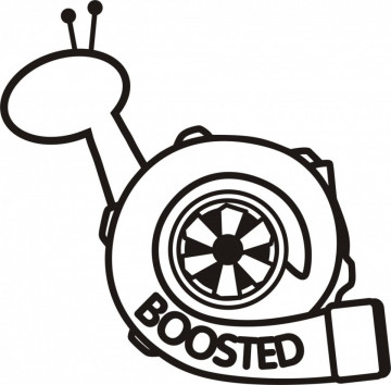 Autocolante - Turbo Caracol - Boosted