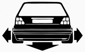 Autocolante - VW GOLF 2