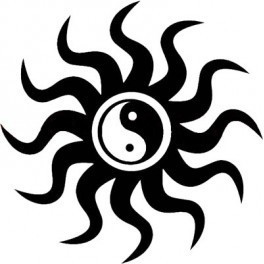 Autocolante - Ying-Yang Sol