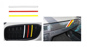 Autocolantes - Faixas BMW (branco, vermelho, amarelo) 1x20cm