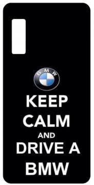 Capa de telemóvel com Keep Calm and Drive a BMW
