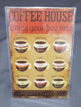 Chapa decorativa com Caffe House