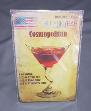 Chapa decorativa com Cosmopolitan