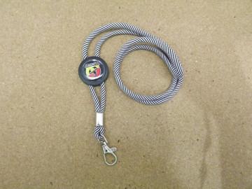Fita Porta Chaves (lanyard) de Pescoço Ajustável para Fiat Abarth