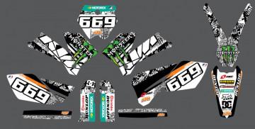 Kit Autocolantes Para Moto - ktm exc xc 04-07