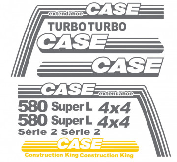 Kit de Autocolantes para CASE 580 Super L