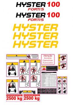 Kit de Autocolantes para HYSTER 100 Fortis