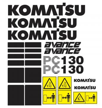 Kit de Autocolantes para KOMATSU PC130 Avance