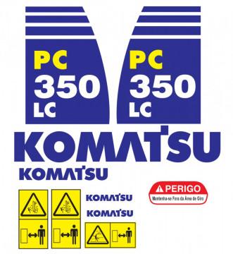 Kit de Autocolantes para KOMATSU PC350 LC