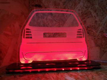 Moldura / Candeeiro com luz de presença - VW Polo 6N