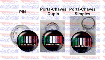 Pin / Porta Chaves - Made in Italy