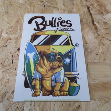 Placa Decorativa em PVC - Vw Pão de forma Bullies Forever