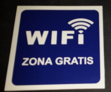Placa PVC - WIFI Zona grátis