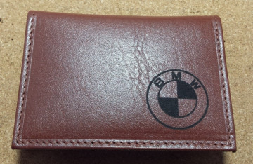 Porta-Cartões com logótipo gravado a laser com BMW