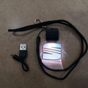 Porta Chaves com luz Multicor com Seat