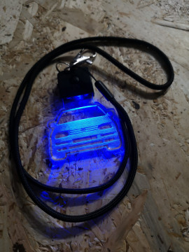 Porta Chaves com luz Multicor com Volkswagen Golf 3 / III