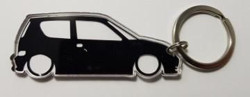 Porta Chaves de Acrílico com silhueta de Fiat Seicento