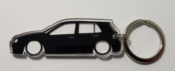 Porta Chaves de Acrílico com silhueta de Volkswagen Golf IV 5 portas