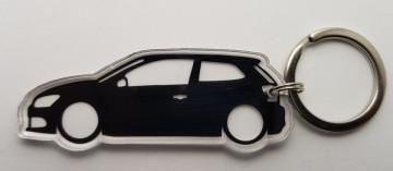 Porta Chaves de Acrílico com silhueta de Volkswagen Polo 6R