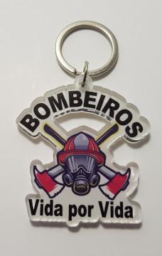 Porta chaves em acrílico - Bombeiro Vida por Vida