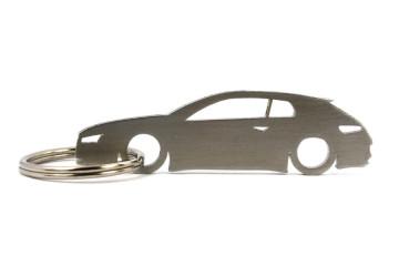 Porta Chaves em inox com silhueta com Alfa Romeo Brera