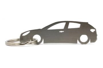 Porta Chaves em inox com silhueta com Alfa Romeo Giulietta