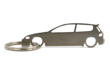 Porta Chaves em inox com silhueta com Honda Civic (5gen) EG
