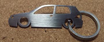 Porta Chaves em inox com silhueta com Volkswagen Golf IV 3P
