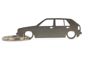 Porta Chaves em inox com silhueta com Volkswagen Golf MK2 5P