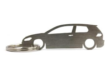 Porta Chaves em inox com silhueta com Volkswagen Golf MK7 3d