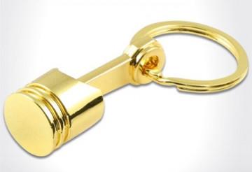 Porta Chaves -Mini - Pistão - Dourado