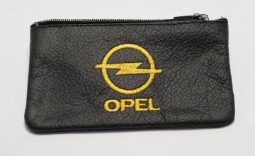 Porta moedas em pele com Opel