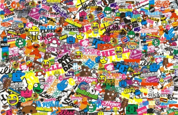 Sticker Bomb - Burgerman - 40x24cm