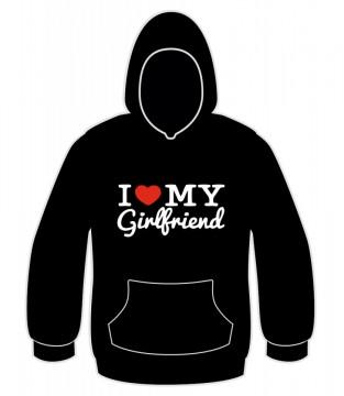 Sweatshirt com capuz - I love my girlfriend