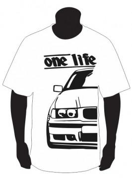T-shirt para BMW E36 One Life