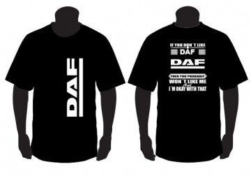 "T-shirt para "" If you don't like scania "" DAF"