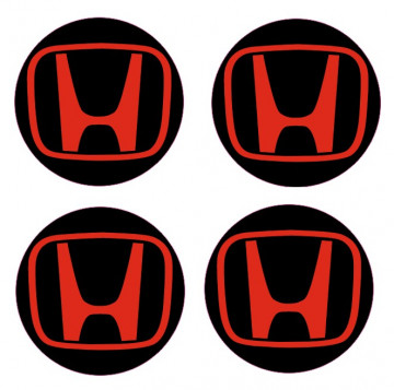 4 Autocolantes Para Centros de Jantes com Honda