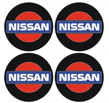 4 Autocolantes Para Centros de Jantes com Nissan