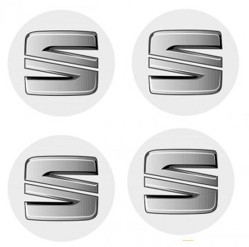 4 Autocolantes Para Centros de Jantes com Seat