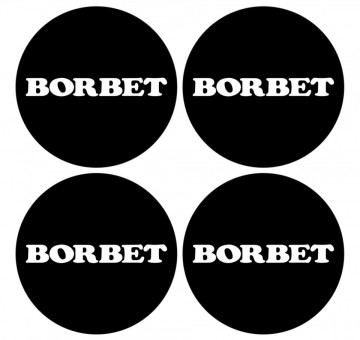 4 Autocolantes Para Centros de Jantes para Borbet