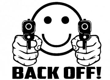 Autocolante - Back Off!