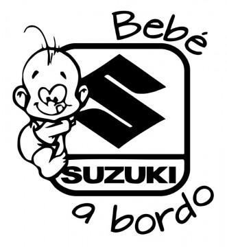 Autocolante - Bebé a bordo para Suzuki