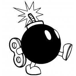 Autocolante - Bomba com corda