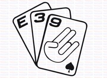 Autocolante - Cartas E39