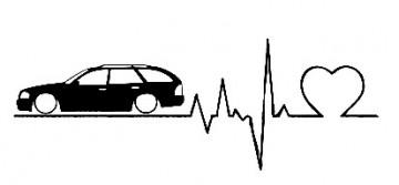 Autocolante com Batimentos cardíacos para Mercedes S202